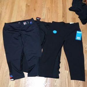 3 x Capri workout pants large 2 x nwt 1 not